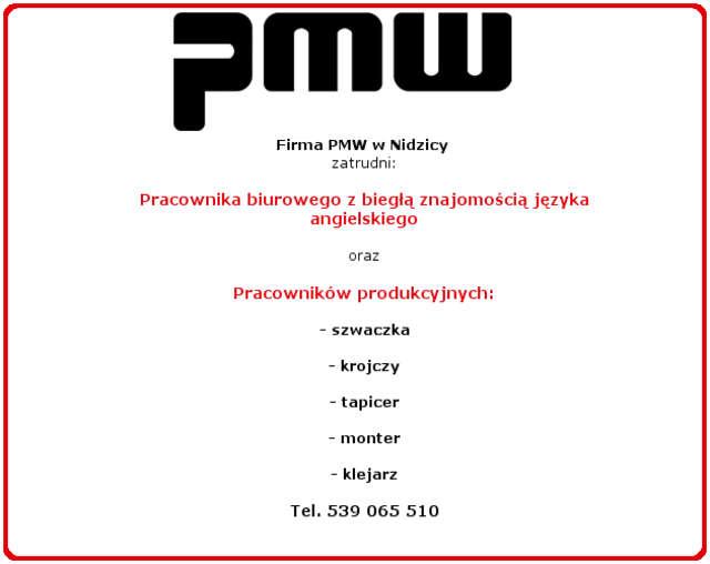 Firma meblarska zatrudni pracowników biurowych i produkcyjnych